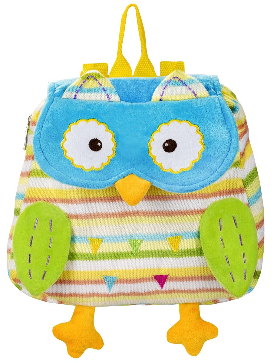 BabyOno Рюкзак детский Совенок цвет голубой желтый1259Детский рюкзак BabyOno Совенок станет замечательным подарком вашему ребенку и доставит ему много удовольствия. Рюкзак выполнен из прочного материала и состоит из одного отделения, закрывающегося на застежку-молнию и клапаном на липучке. Лицевая сторона выполнена в виде милого совенка. Рюкзак снабжен регулируемыми по длине плечевые ремнями и ручкой для переноски в руке. В таком рюкзаке Совенок ваш ребенок с удовольствием будет носить свои вещи или любимые игрушки, а милые и жизнерадостные образы подарят малышу отличное настроение. Товар сертифицирован.