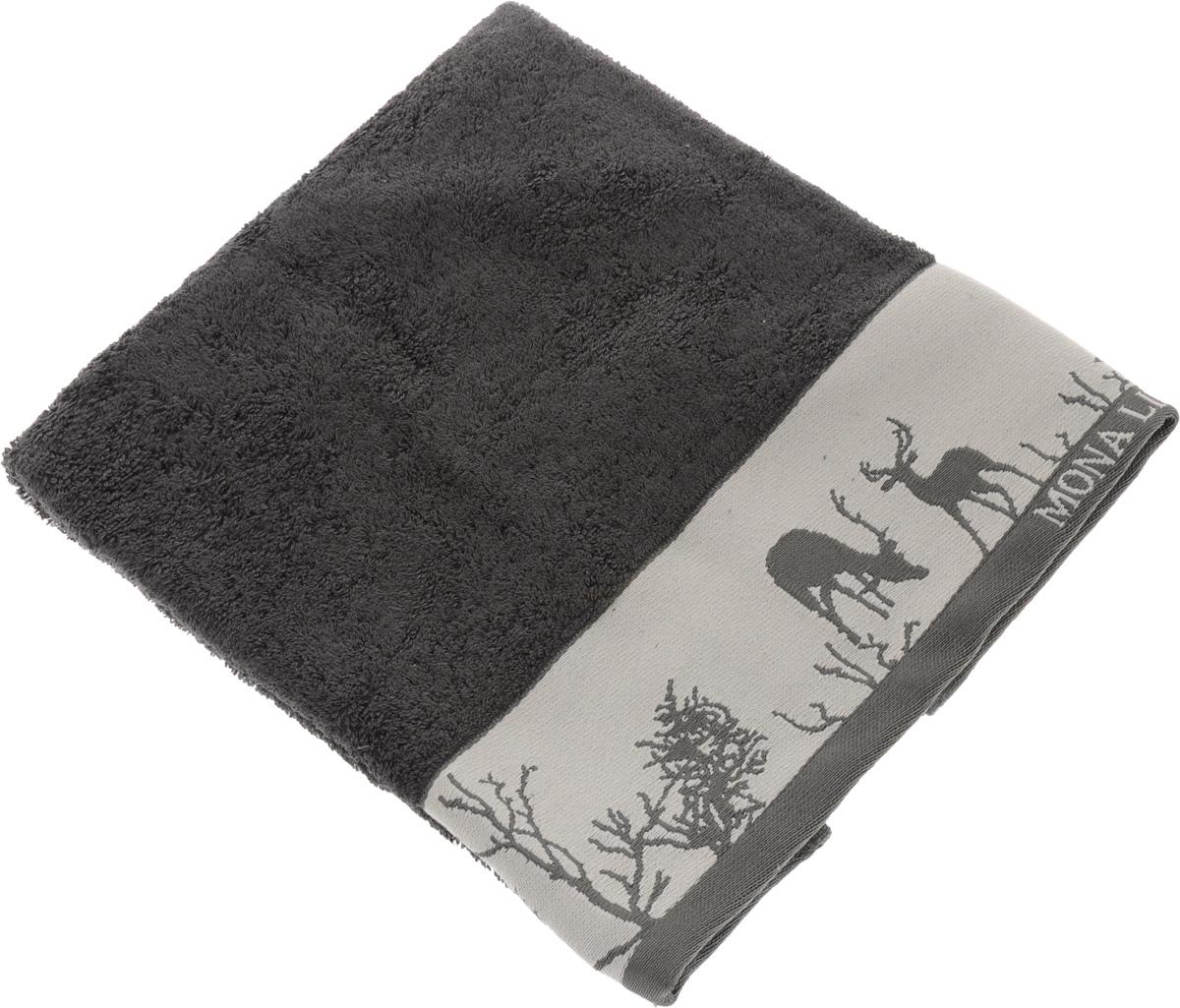 Полотенце Mona Liza Wild, цвет: графит, светло-серый, 50 х 90 см529675/1Мягкое полотенце Wild изготовлено из 30% хлопка и 70% бамбукового волокна. Полотенце Wild с жаккардовым бордюром обладает высокой впитывающей способностью и сочетает в себе элегантную роскошь и практичность. Благодаря высокому качеству изготовления, полотенце будет радовать вас многие годы. Мотивы коллекции Mona Liza Premium bu Serg Look навеяны итальянскими фресками эпохи Ренессанса, периода удивительной гармонии в искусстве. В представленной коллекции для нанесения на ткань рисунка применяется многоцветная печать, метод реактивного крашения, который позволяет создать уникальную цветовую гамму, напоминающую старинные фрески. Этот метод также обеспечивает высокую устойчивость краски при стирке.