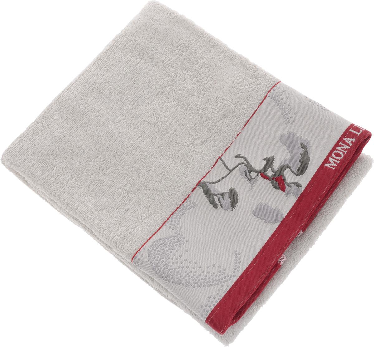 Полотенце Mona Liza Two, цвет: светло-серый, красный, 50 х 90 см529677/2Мягкое полотенце Two изготовлено из 30% хлопка и 70% бамбукового волокна. Полотенце Two с жаккардовым бордюром обладает высокой впитывающей способностью и сочетает в себе элегантную роскошь и практичность. Благодаря высокому качеству изготовления, полотенце будет радовать вас многие годы. Мотивы коллекции Mona Liza Premium bu Serg Look навеяны итальянскими фресками эпохи Ренессанса, периода удивительной гармонии в искусстве. В представленной коллекции для нанесения на ткань рисунка применяется многоцветная печать, метод реактивного крашения, который позволяет создать уникальную цветовую гамму, напоминающую старинные фрески. Этот метод также обеспечивает высокую устойчивость краски при стирке.