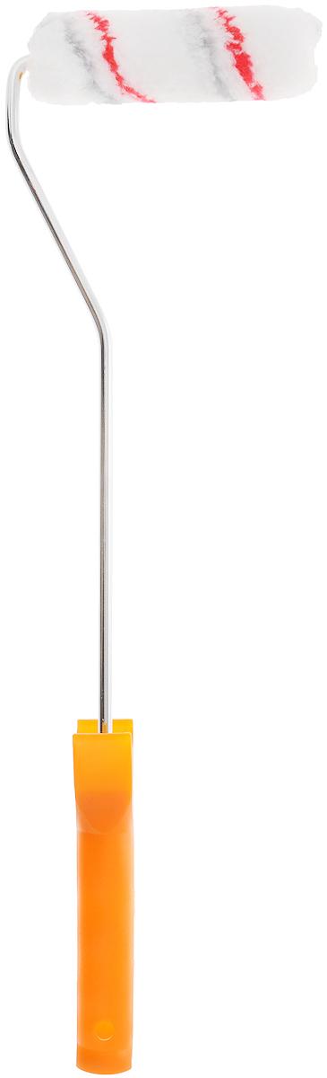 Валик полиакриловый FIT, с ручкой, цвет: оранжевый, белый, 11 х 3 см02671_оранжевыйПолиакриловый валик FIT выполнен из полиакрила и оснащен эргономичной пластиковой ручкой. Предназначен для работы с вододисперсионными и масляными красками. Длина ролика: 11 см. Диаметр ролика: 3 см. Длина ручки: 40 см. Бюгель: 0,6 см.