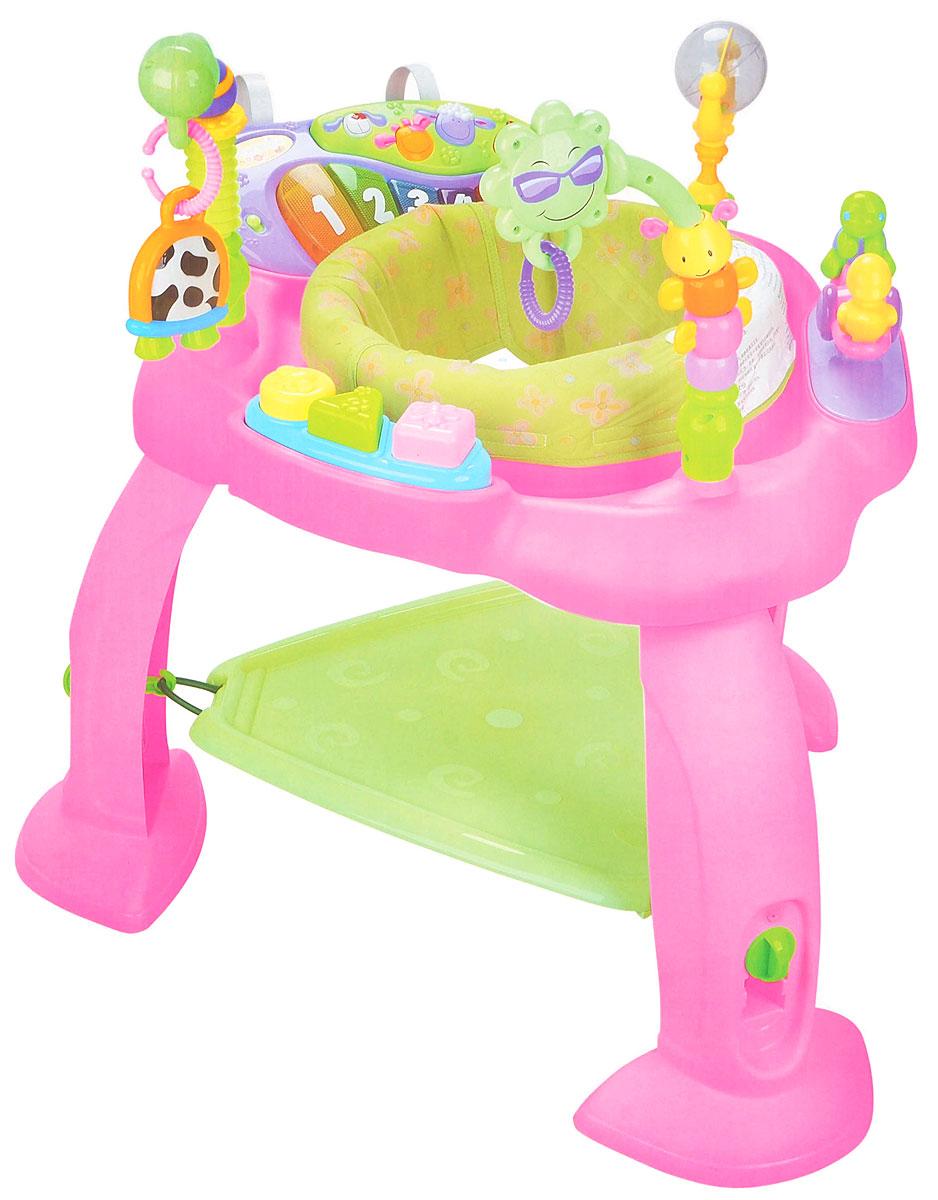 Huile Toys Развивающий музыкальный центр Стул-прыгунок696Развивающий музыкальный центр Huile Toys Стул-прыгунок - незаменимый помощник для родителей, развивающий одновременно физические, музыкальные, когнитивные способности малыша. Благодаря подножке-трамплину ребенок может стоять и прыгать, развивая тем самым координацию рук и тренируя мышцы ног. Стульчик вращается на 360 градусов, позволяя ребенку поворачиваться в любом направлении, что способствует улучшению координации движений и ориентации в пространстве. Съемное пианино можно установить на кроватку. Кнопки с животными позволяют услышать звуки животных и песни, а 5 клавиш пианино при нажатии издают различные музыкальные звуки. Сравнивая цвет и размер разнообразных игрушек, ребенок развивает визуальное восприятие. Посредством различных действий - нажать, потянуть, удержать - ребенок тренирует координацию рук и глаз, а также мелкую моторику. Необходимо купить 2 батарейки напряжением 1,5V типа АА (не входят в комплект).