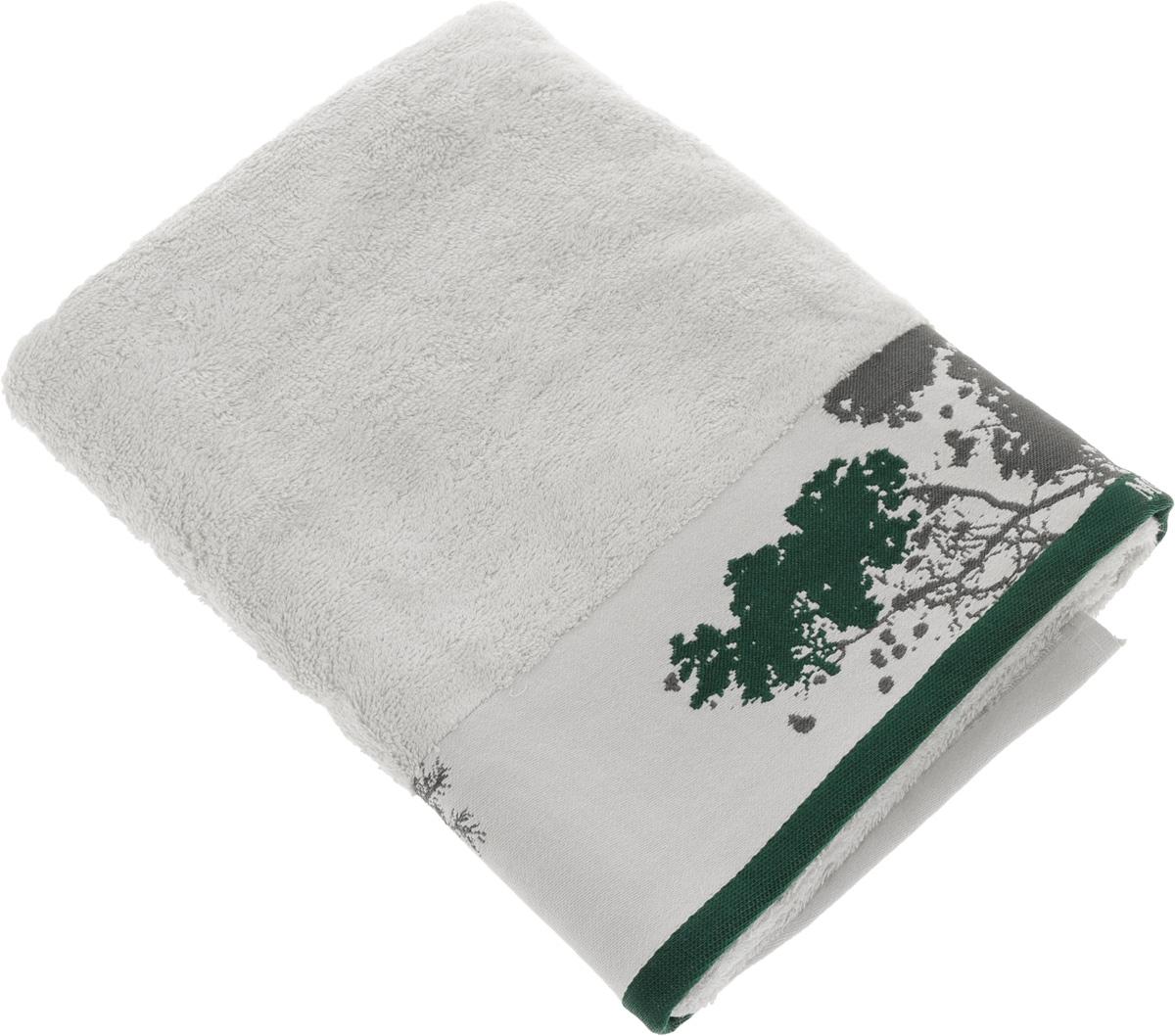 "Полотенце Mona Liza ""Nature"", цвет: светло-серый, зеленый, 70 х 140 см 529674/2"