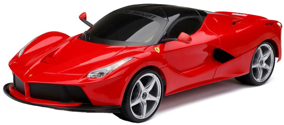 New Bright Радиоуправляемая модель La Ferrari масштаб 1:860647Радиоуправляемая модель New Bright La Ferrari с полным приводом обязательно привлечет внимание взрослого и ребенка и понравится любому, кто увлекается автомобилями. Маневренная и реалистичная уменьшенная копия реального автомобиля выполнена в масштабе 1:8. Серьезные габариты придают реалистичность в управлении. Автомобиль отличается потрясающей маневренностью, динамикой и покладистостью. Управление машинкой происходит с помощью пульта. Возможные движения: вперед, назад, вправо, влево. Пульт управления работает на частоте 27 MHz. Колеса машины прорезинены и обеспечивают плавный ход, машинка не портит напольное покрытие. Радиоуправляемые игрушки способствуют развитию координации движений, моторики и ловкости. Модель работает от сменного аккумулятора - 9,6V (входит в комплект). Зарядное устройство также входит в комплект. Пульт управления работает от 2 батареек типа АА (входят в комплект).