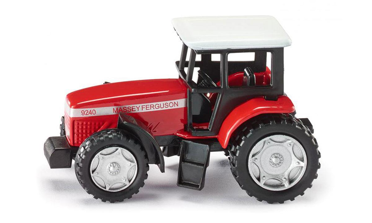 Siku Трактор Massey Ferguson 92400847Трактор Siku Massey Ferguson 9240 выполнен в виде точной копии колесного трактора. Такая модель понравится не только ребенку, но и взрослому коллекционеру, и приятно удивит вас высочайшим качеством исполнения. Корпус трактора выполнен из металла, кабина водителя - из пластика. Прорезиненные колеса крутятся. Трактор оборудован сцепным устройством, совместимым с прицепами Siku. Трактор станет не только интересной игрушкой для ребенка, интересующегося агротехникой, но и займет достойное место в любой коллекции.