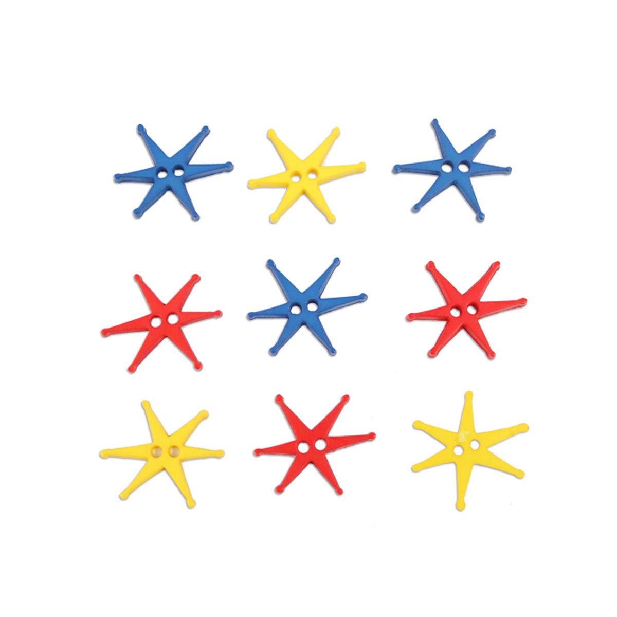 Пуговицы декоративные Magic Buttons Звезды, 10 шт7711105Яркие пуговицы бренда Magic Buttons восхищают разнообразием стилей и цветов. Они станут отличным дополнением в качестве завершающего штриха на одежде, кроме того их можно использовать в скрапбуинге, создавать с помощью них интересные открытки, подарочные конверты и многое, многое другое.