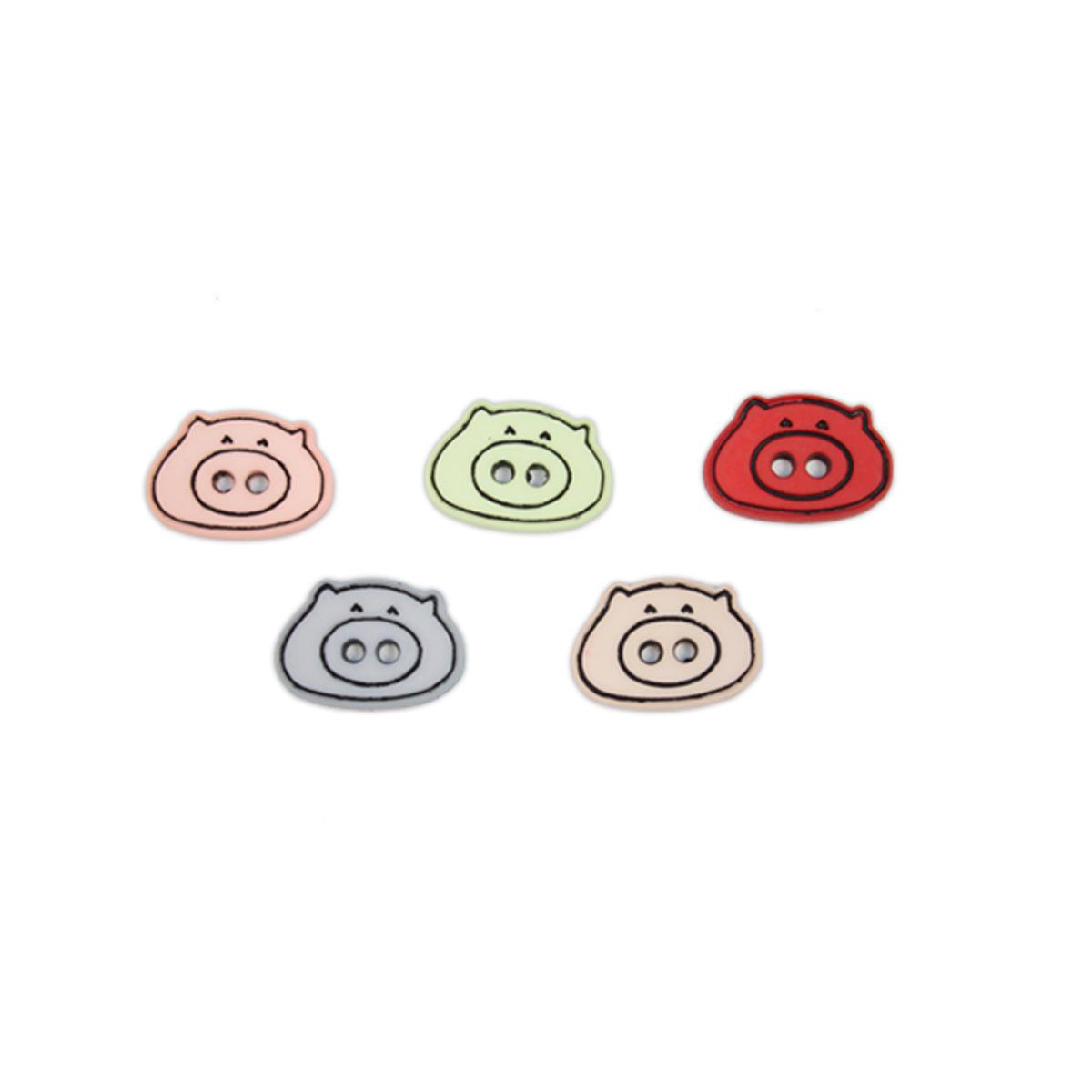 Пуговицы декоративные Magic Buttons Поросята, 5 шт7711119Яркие пуговицы бренда Magic Buttons восхищают разнообразием стилей и цветов. Они станут отличным дополнением в качестве завершающего штриха на одежде, кроме того их можно использовать в скрапбуинге, создавать с помощью них интересные открытки, подарочные конверты и многое, многое другое.