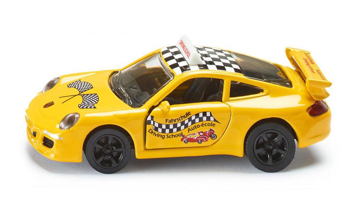 Siku Модель автомобиля Porsche 911 Fahrschule1457Модель автомобиля Siku Porsche 911. Fahrschule выполнена в виде точной копии одноименного автомобиля. Такая модель понравится не только ребенку, но и взрослому коллекционеру, и приятно удивит вас высочайшим качеством исполнения. Модель выполнена из металла с элементами из пластика; прорезиненные колеса крутятся. Двери машинки открываются. Отличный подарок для любителей автомобилей!