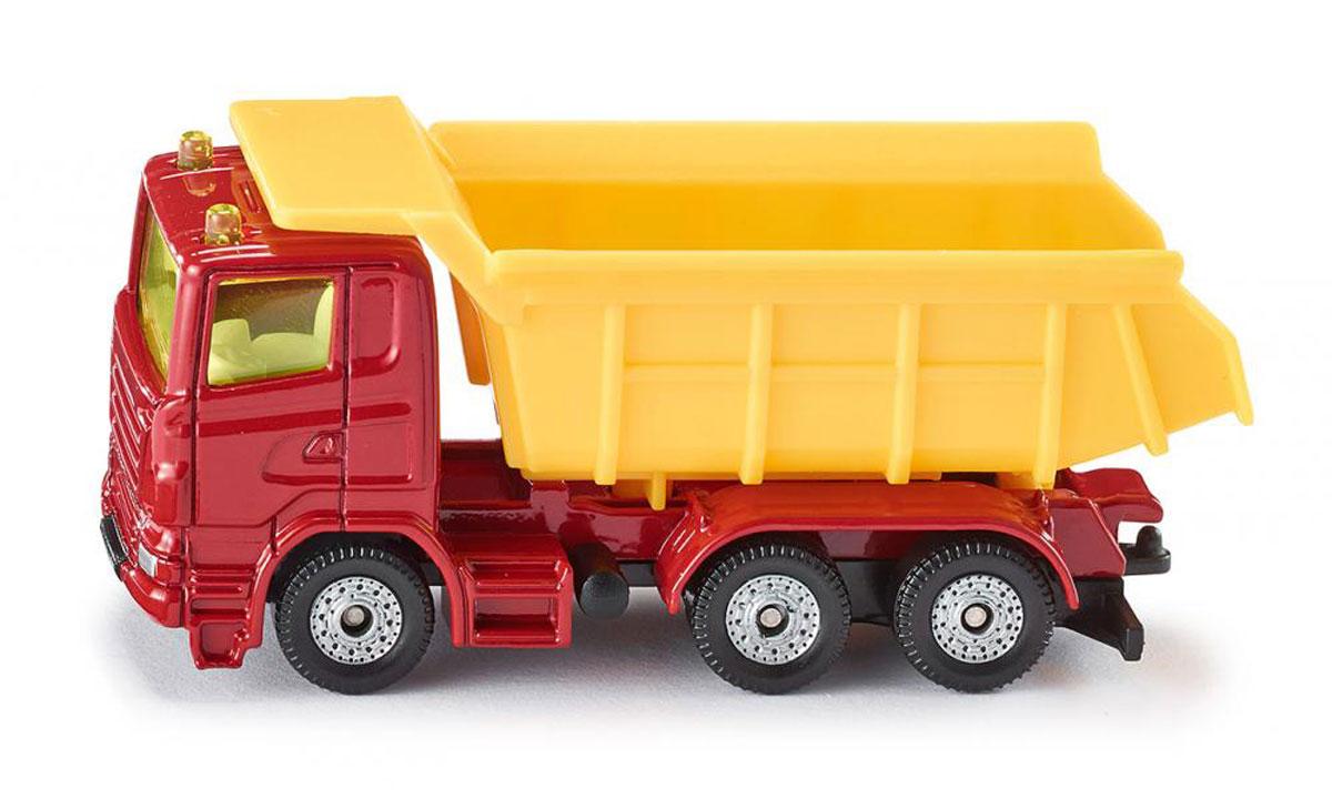 Siku Грузовик1075Грузовик Siku выполнен в виде точной копии настоящего автомобиля. Такая модель понравится не только ребенку, но и взрослому коллекционеру, и приятно удивит вас высочайшим качеством исполнения. Модель выполнена из металла с элементами из пластика; прорезиненные колеса крутятся. Отличный подарок для любителей автомобилей!