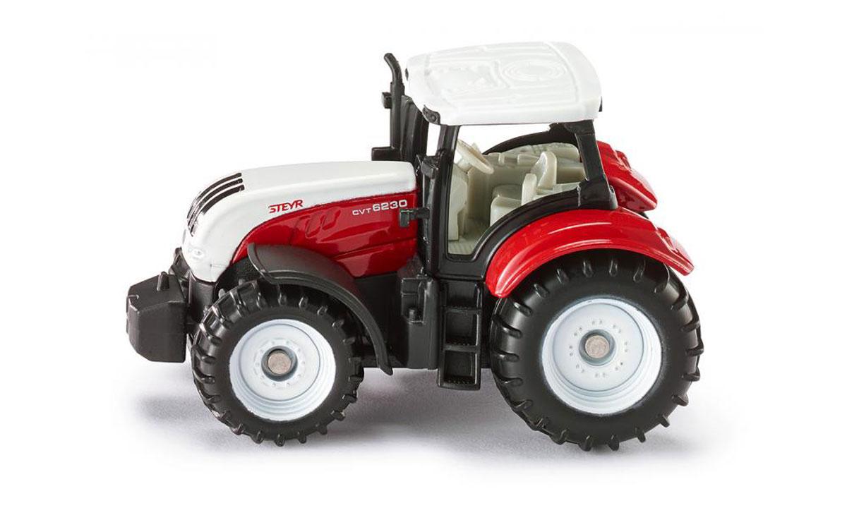 Siku Трактор Steyr 6230 CVT1382Трактор Siku Steyr 6230 CVT выполнен в виде точной копии колесного трактора. Такая модель понравится не только ребенку, но и взрослому коллекционеру, и приятно удивит вас высочайшим качеством исполнения. Корпус трактора выполнен из металла, кабина водителя - из пластика. Прорезиненные колеса крутятся. Трактор оборудован сцепным устройством, совместимым с прицепами Siku. Модель станет не только интересной игрушкой для ребенка, интересующегося агротехникой, но и займет достойное место в любой коллекции.