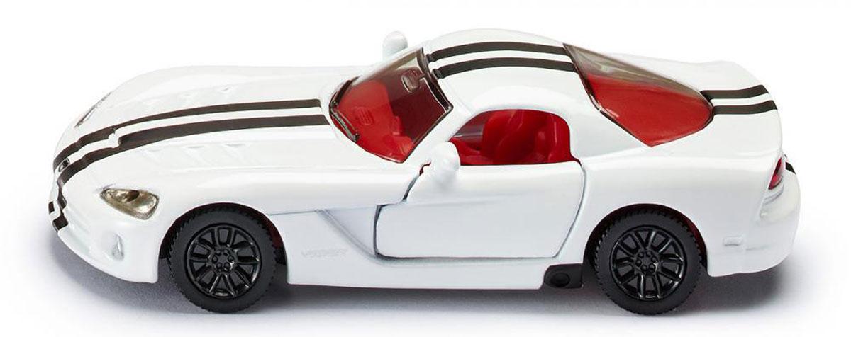 Siku Модель автомобиля Dodge Viper1434Модель автомобиля Siku Dodge Viper выполнена в виде уменьшенной копии одноименного автомобиля. Такая модель понравится не только ребенку, но и взрослому коллекционеру, и приятно удивит вас высочайшим качеством исполнения. Модель выполнена из металла с элементами из пластика; прорезиненные колеса имеют свободный ход. Двери машинки открываются. Отличный подарок для любителей автомобилей!