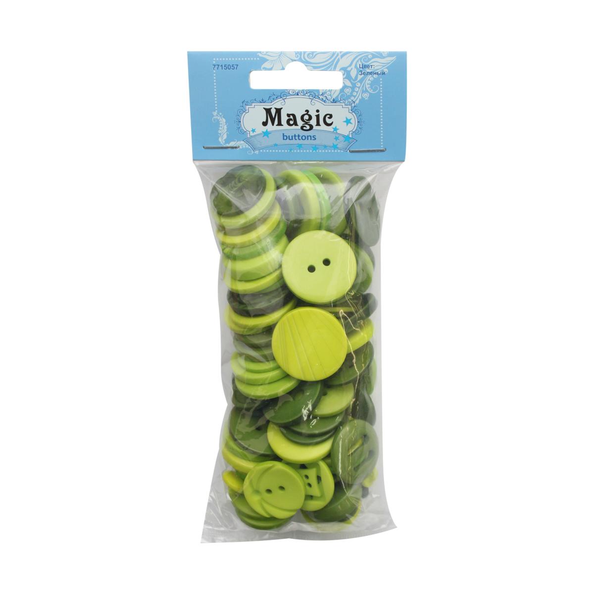 Пуговицы декоративные Magic Buttons Палитра, цвет: зеленый, 100 г7715057_ЗеленыйЯркие и красочные пуговицы Magic Buttons станут прекрасным дополнением к любому образу. Пуговицы выполнены в разных цветовых вариантах и формах.