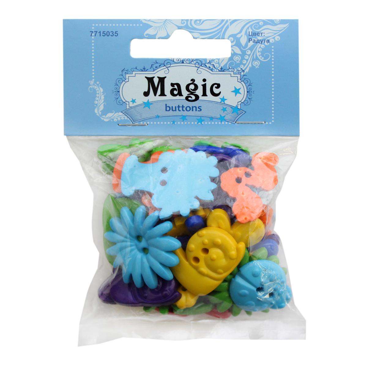 Пуговицы декоративные Magic Buttons Сад. Радуга, 30 г7715035_РадугаЯркие и красочные пуговицы Magic Buttons станут прекрасным дополнением к любому образу. Пуговицы выполнены в разных цветовых вариантах и формах.