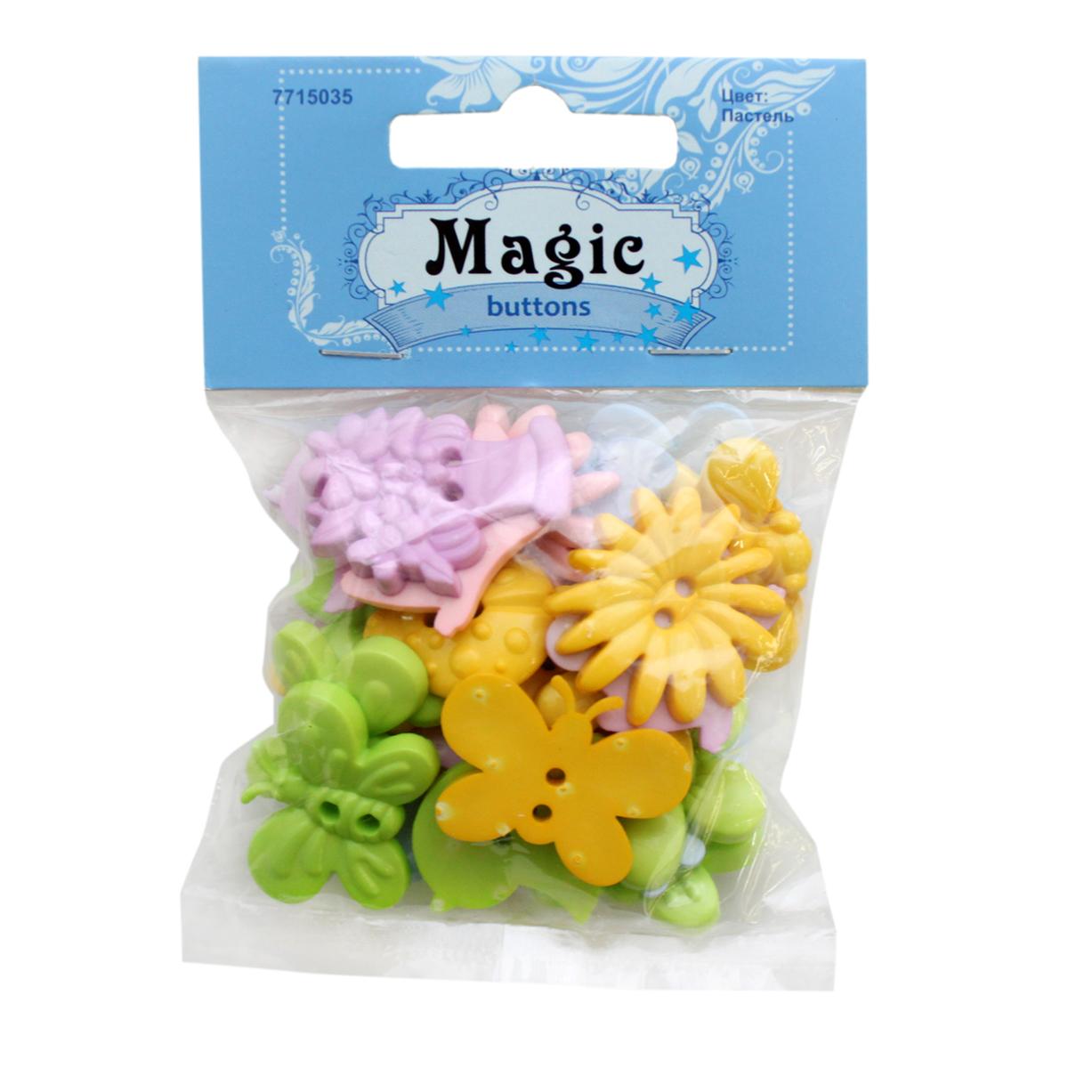 Пуговицы декоративные Magic Buttons Сад. Пастель, 30 г7715035_ПастельЯркие и красочные пуговицы Magic Buttons станут прекрасным дополнением к любому образу. Пуговицы выполнены в разных цветовых вариантах и формах.