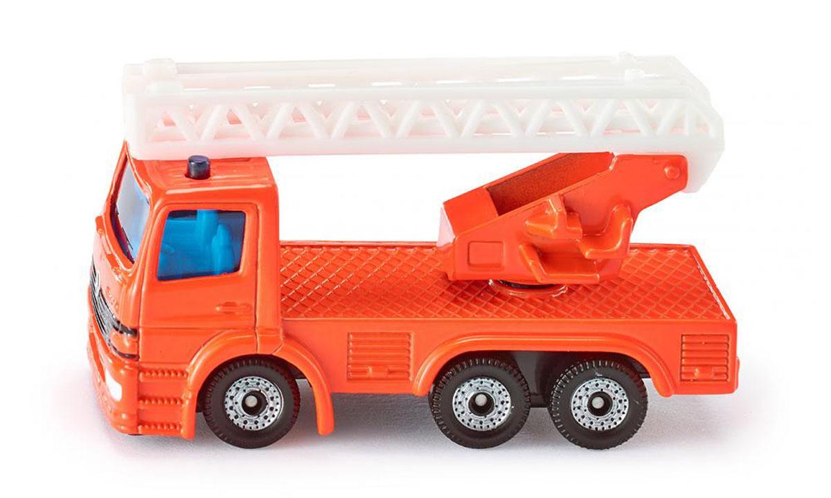 Siku Пожарная машина с лестницей1015Пожарная машина с лестницей Siku выполнена в виде уменьшенной копии настоящей пожарной машины. Такая модель понравится не только ребенку, но и взрослому коллекционеру, и приятно удивит вас высочайшим качеством исполнения. Корпус и кабина выполнены из металла, стекла кабины - из прозрачного тонированного пластика. Подвижные колеса выполнены из резины. Модель станет не только интересной игрушкой для ребенка, но и займет достойное место в коллекции.