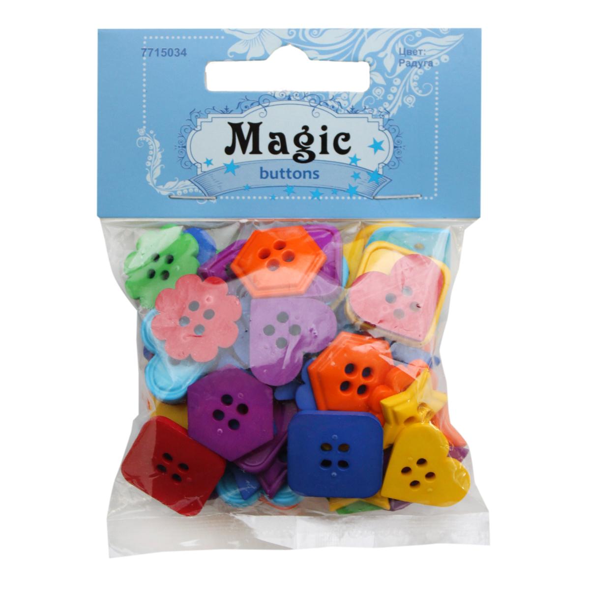 Пуговицы декоративные Magic Buttons Геометрия. Радуга, 30 г7715034_РадугаЯркие и красочные пуговицы Magic Buttons станут прекрасным дополнением к любому образу. Пуговицы выполнены в разных цветовых вариантах и формах.
