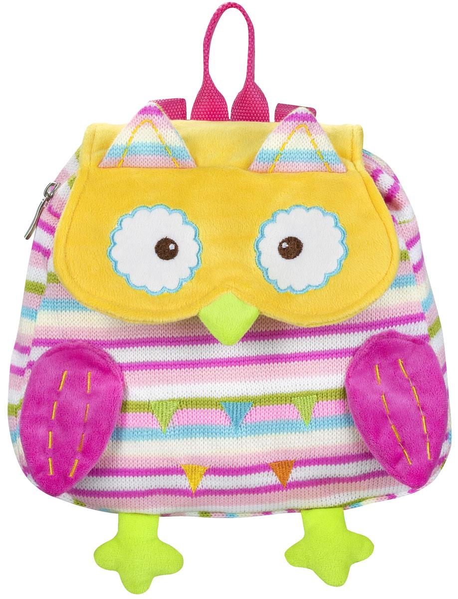 BabyOno Рюкзак детский Совенок цвет розовый желтый1258_розовый, желтыйДетский рюкзак BabyOno Совенок станет замечательным подарком вашему ребенку и доставит ему много удовольствия. Рюкзак выполнен из прочного материала и состоит из одного отделения, закрывающегося на застежку-молнию и клапаном на липучке. Лицевая сторона выполнена в виде милого совенка. Рюкзак снабжен регулируемыми по длине плечевые ремнями и ручкой для переноски в руке. В таком рюкзаке ваш ребенок с удовольствием будет носить свои вещи или любимые игрушки, а милый жизнерадостный образ подарит малышу отличное настроение.