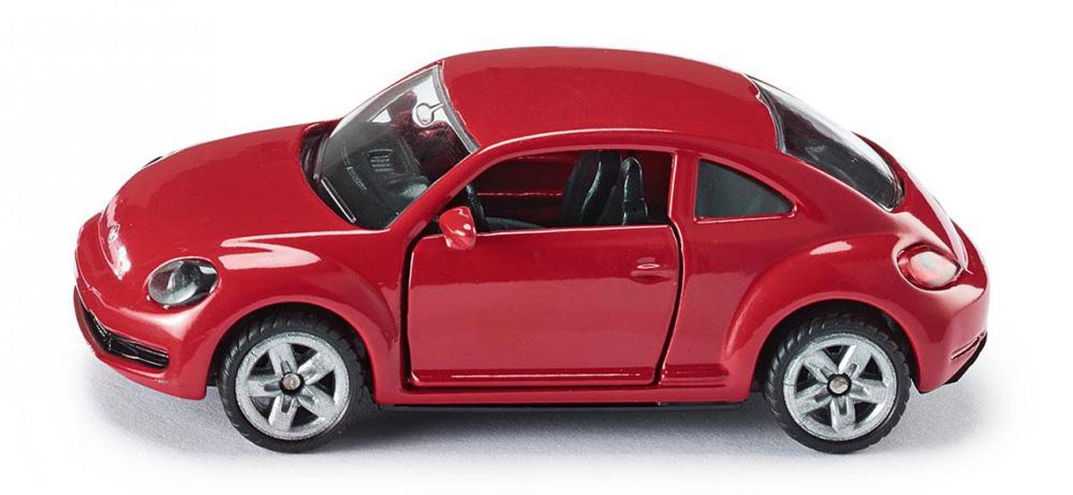 Siku Модель автомобиля Volkswagen The Beetle1417Модель автомобиля Siku Volkswagen The Beetle выполнена в виде уменьшенной копии реального авто. Такая модель понравится не только ребенку, но и взрослому коллекционеру, и приятно удивит вас высочайшим качеством исполнения. Модель выполнена из металла с элементами из пластика; прорезиненные колеса имеют свободный ход. Двери машинки открываются. Отличный подарок для любителей автомобилей!