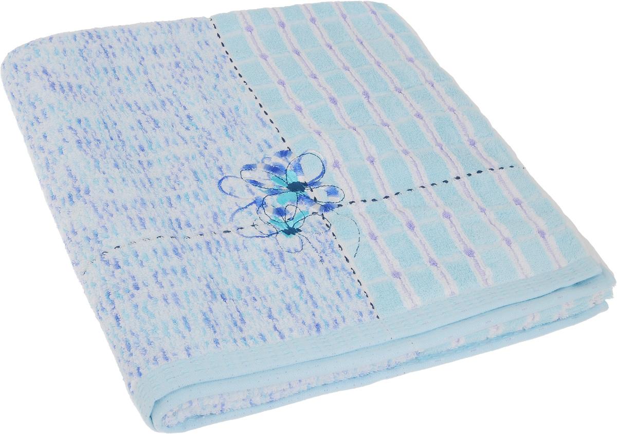 Полотенце Soavita Premium. Sandra, цвет: голубой, 70 х 140 см62911Полотенце Soavita Premium. Sandra выполнено из 100% хлопка. Изделие отлично впитывает влагу, быстро сохнет, сохраняет яркость цвета и не теряет форму даже после многократных стирок. Полотенце очень практично и неприхотливо в уходе. Оно создаст прекрасное настроение и украсит интерьер в ванной комнате.