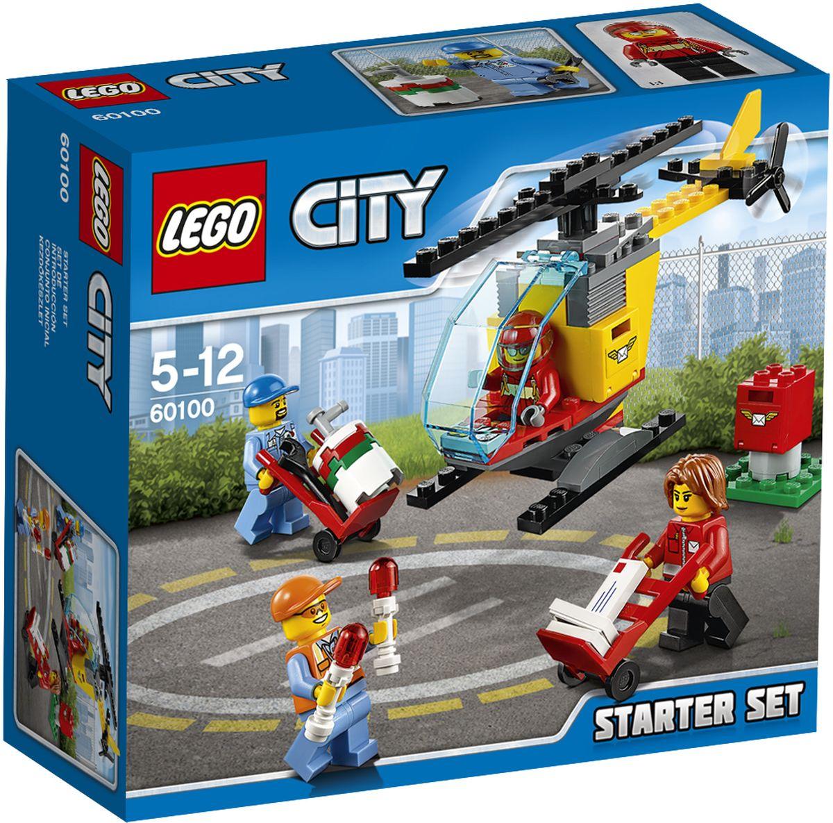 LEGO City Конструктор Аэропорт Стартовый набор 6010060100Станьте частью команды, выполняющей очень важную работу! Помогите работникам почты разгрузить почтовые ящики и отправить почту на вертолете. Загрузите контейнеры на борт, а затем помогите пилоту попасть в кабину. Заполните бак топливом из бочки и поместите вертолет на взлетно-посадочную полосу с направляющими огнями. Организуйте успешную доставку почты в Lego City! Набор включает в себя 81 элемент. Конструктор - это один из самых увлекательных и веселых способов времяпрепровождения. Ребенок сможет часами играть с конструктором, придумывая различные ситуации и истории.