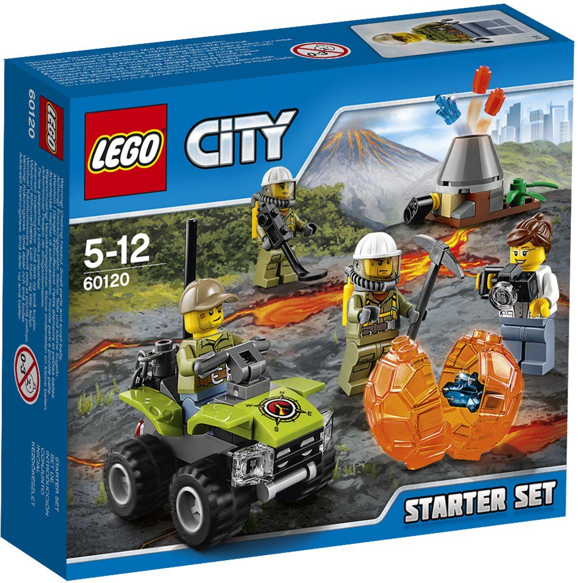LEGO City Конструктор Исследователи вулканов Стартовый набор 60120 lego city 60120