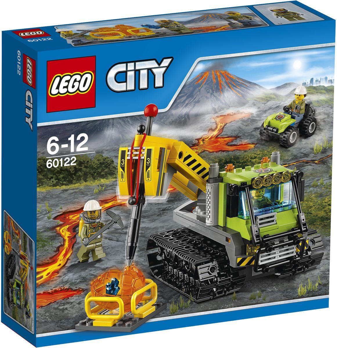 LEGO City Конструктор Вездеход исследователей вулканов 6012260122Исследование - это трудная работа! Используйте тяжелый кран, чтобы разбить валуны и выяснить, что внутри. Передвигайтесь по бездорожью на вездеходе исследователей вулканов, чтобы перевозить породу в нужное место. Используйте отбойный молоток, чтобы разбить валуны и найти скрытые в нем кристаллы. Такие находки превращают тяжелую работу в удовольствие! Набор включает в себя 324 разноцветных пластиковых элемента. Конструктор - это один из самых увлекательных и веселых способов времяпрепровождения. Ребенок сможет часами играть с конструктором, придумывая различные ситуации и истории.