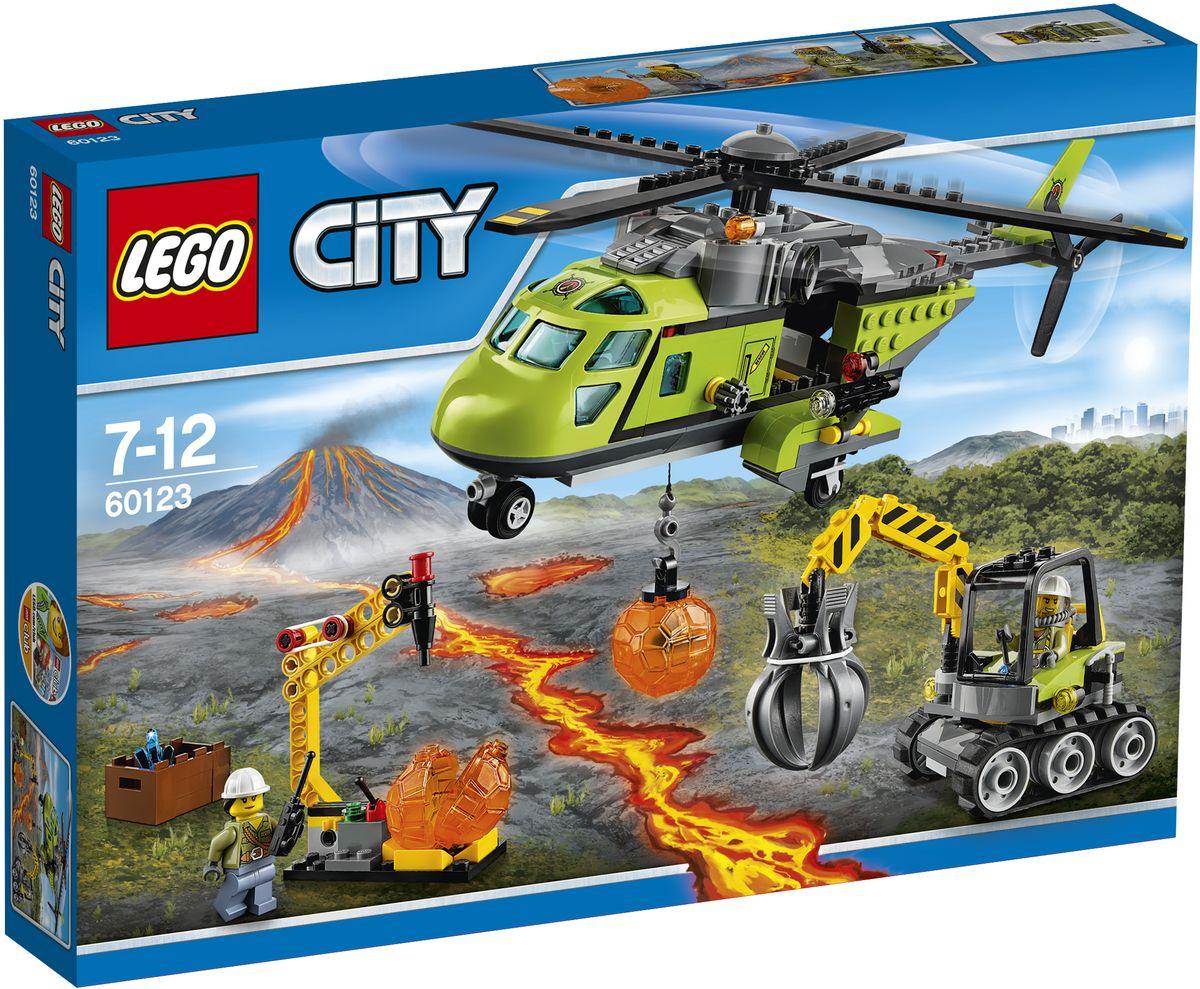LEGO City Конструктор Грузовой вертолет исследователей вулканов 6012360123Займитесь наукой и поднимитесь на новую высоту на Грузовом вертолете исследователей вулканов. Чем больше камней вы найдете, тем больше кристаллов можно отправить в лабораторию. Разгрузите экскаватор, инструмент и приступайте к работе! Упакуйте ящик с найденными кристаллами и загрузите его в заднюю часть вертолета, а затем снова взлетайте, чтобы послужить науке. Набор включает в себя 330 разноцветных пластиковых элементов. Конструктор - это один из самых увлекательных и веселых способов времяпрепровождения. Ребенок сможет часами играть с конструктором, придумывая различные ситуации и истории.