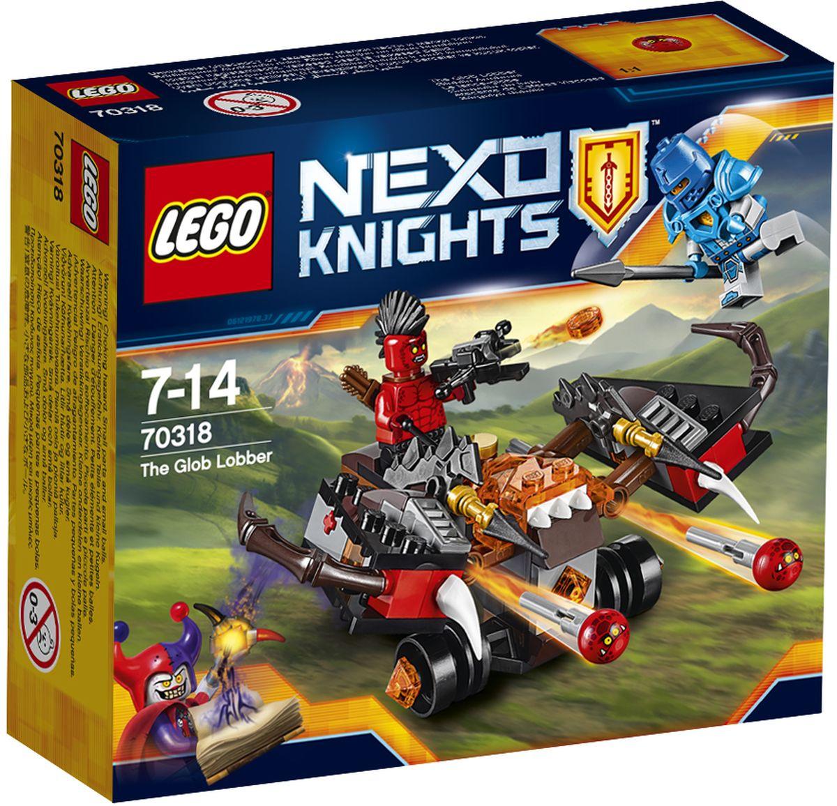 LEGO NEXO KNIGHTS Конструктор Шаровая ракета 7031870318Лавовый монстр напал на королевство! Разверните устрашающую Шаровую ракету для атаки и стреляйте Глоблинами в королевского гвардейца. Победите защитника королевства Найтония и осадите крепость, используя этот небольшой, но мощный автомобиль в виде арбалета, оснащенный двумя маневренными ракетами с Глоблинами. Набор включает в себя 95 разноцветных пластиковых элементов. Конструктор станет замечательным сюрпризом вашему ребенку, который будет способствовать развитию мелкой моторики рук, внимательности, усидчивости и мышления. Играя с конструктором, ребенок научится собирать детали по образцу, проводить время с пользой и удовольствием.