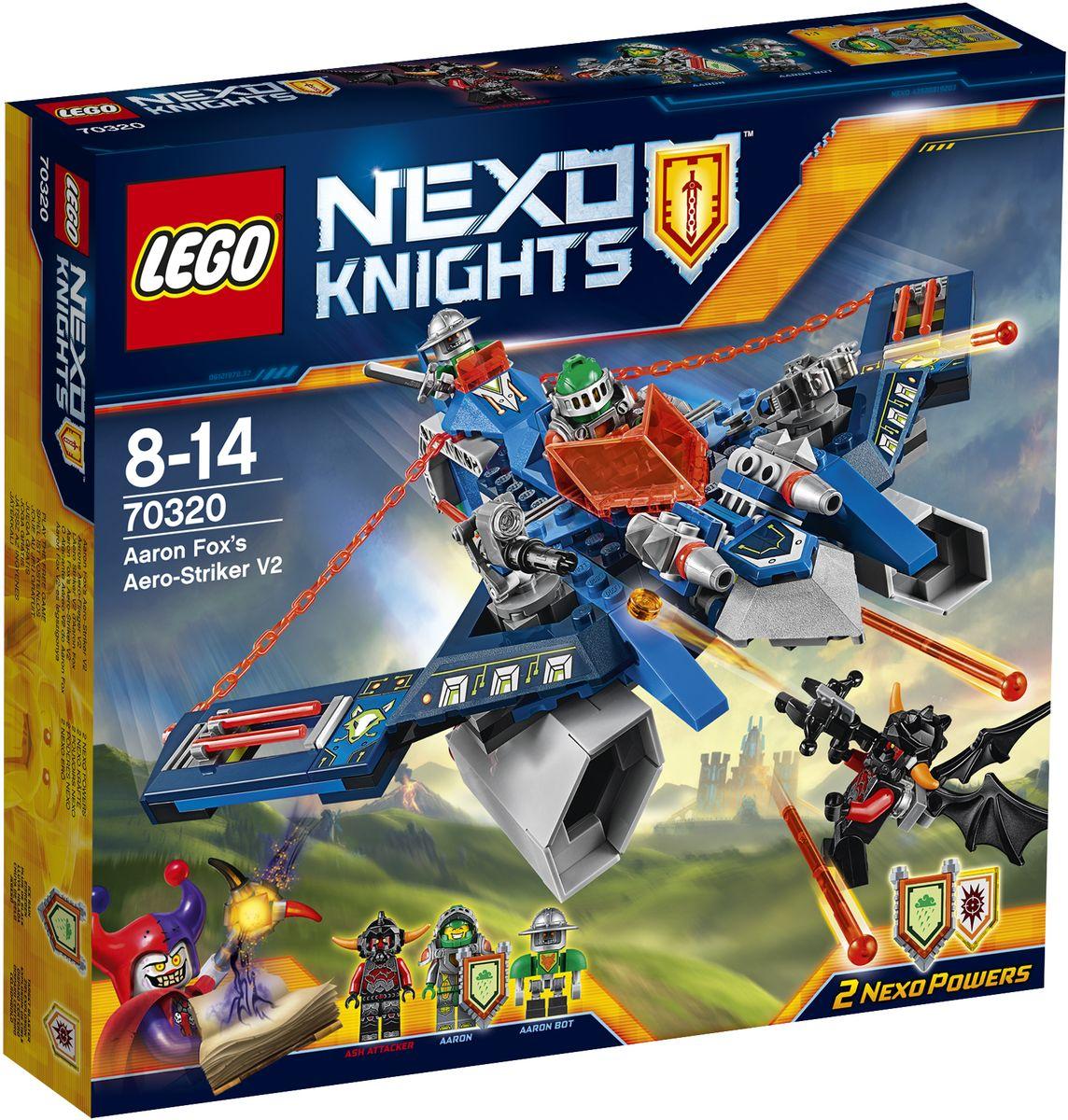 LEGO NEXO KNIGHTS Конструктор Аэро-арбалет Аарона 7032070320Погрузитесь в футуристический мир LEGO NEXO KNIGHTS с удивительным аэро- арбалетом и превратитесь в Аарона Фокса, используя флайер 2 в 1 как арбалет! Сражайтесь против Лавовых монстров, нажимая на спусковой механизм, чтобы стрелять сразу из двух пружинных шутеров. Затем отправьте Аарона против крылатого Пеплометателя и стреляйте из арбалета-шутера или выпустите рыцаря на стреловидном флайере и предоставьте управление боту Аарона! В набор входят щиты для сканирования, дающие 2 Nexo Силы: Ледяной дождь и Умный бластер. Набор включает в себя 301 разноцветный элемент. Конструктор - это один из самых увлекательных и веселых способов времяпрепровождения. Ребенок сможет часами играть с конструктором, придумывая различные ситуации и истории.