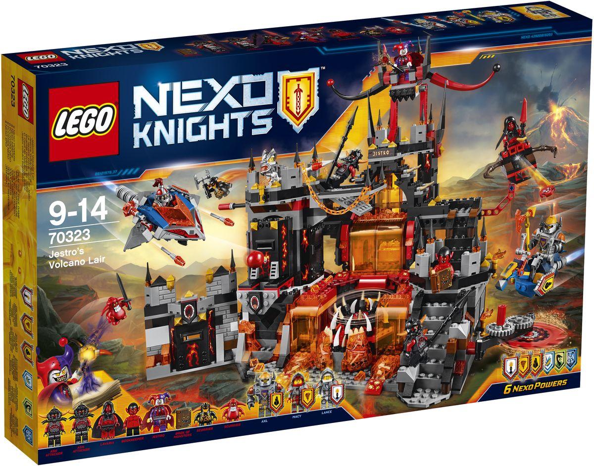 LEGO NEXO KNIGHTS Конструктор Логово Джестро 7032370323Спикировав на Разрушителе, пробейтесь в библиотеку и захватите Книги темной магии. Отправьте Акселя на Парящем коне вперед, но опасайтесь лавовой ловушки и уклоняйтесь от летящих Глоблинов! Застаньте Джестро и его армию врасплох, пока они отдыхают в своих казармах, и не дайте ему сбежать на съемном троне! В набор входят щиты для сканирования, дающие 6 Nexo Сил: Поражающая Вспышка, Огненный Смерч, Неприступная Стена, Банановая Бомба, Дракон Джунглей и Вихревой Ураган. Набор включает в себя 1186 разноцветных пластиковых элементов. Конструктор станет замечательным сюрпризом вашему ребенку, который будет способствовать развитию мелкой моторики рук, внимательности, усидчивости и мышления. Играя с конструктором, ребенок научится собирать детали по образцу, проводить время с пользой и удовольствием.