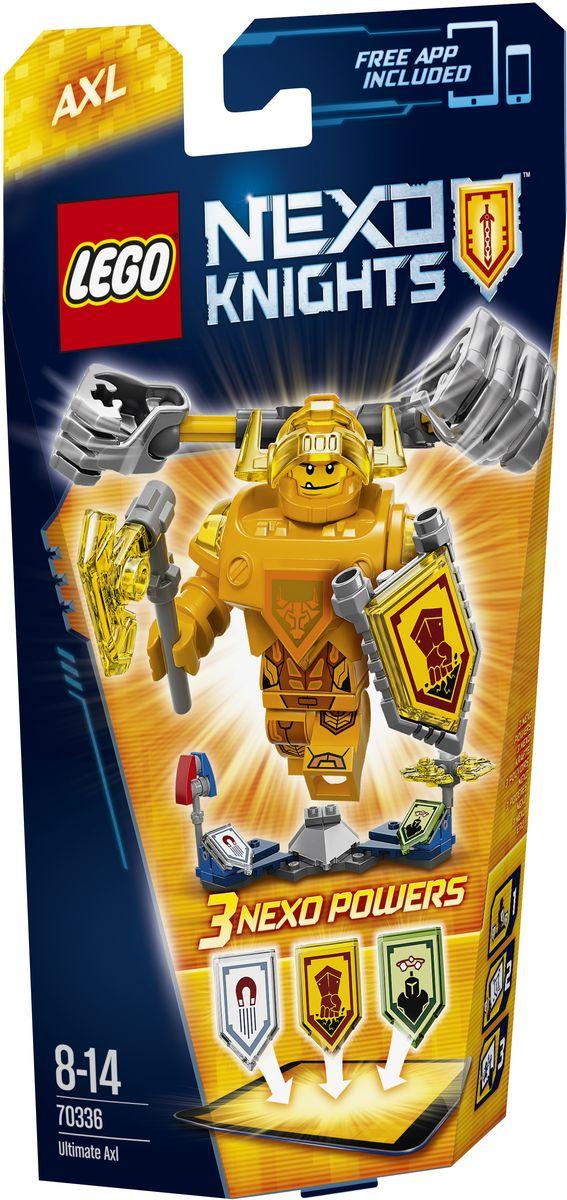 LEGO NEXO KNIGHTS Конструктор Аксель - Абсолютная сила 7033670336Аксель - Абсолютная сила всегда голоден, но теперь тяжеловесный рыцарь еще и горит желанием добраться до Джестро и Лава-монстров. Для начала гигантскими кулаками проложите себе путь в самую гущу сражения! Нанесите врагам максимальный ущерб намагниченной булавой или поразите их вращающимися лезвиями! Улучшите свои боевые навыки, отсканировав щиты для получения 3 Nexo-сил, которые пополнят вашу цифровую коллекцию уникальных способностей и позволят перехитрить Джестро и злобных Лава-монстров в приложении LEGO NEXO KNIGHTS. Набор включает в себя 69 разноцветных пластиковых элементов. Конструктор - это один из самых увлекательных и веселых способов времяпрепровождения. Ребенок сможет часами играть с конструктором, придумывая различные ситуации и истории.
