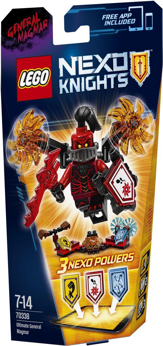 LEGO NEXO KNIGHTS Конструктор Генерал Магмар - Абсолютная сила 7033870338Этот военачальник играет подло, и даже Джестро нужно оглядываться, когда Генерал Магмар - Абсолютная сила начинает вращать свое пылающее оружие. Используйте магию, чтобы поразить противников, вызвав Nexo-силу Вихревой ветер! Этот злой генерал даже может переломить ход сражения, если пустит в ход свои сокрушающие кулаки. Улучшите свои боевые навыки, отсканировав щиты для получения 3 Nexo-сил, которые пополнят вашу цифровую коллекцию уникальных способностей и позволят перехитрить врагов в бесплатном приложении LEGO NEXO KNIGHTS. Приложение MERLOK 2.0. Сканируйте для получения трех Nexo-сил: Камнедробилка, Вихревой ветер и Мощный удар. Набор включает в себя 64 разноцветных элемента. Конструктор - это один из самых увлекательных и веселых способов времяпрепровождения. Ребенок сможет часами играть с конструктором, придумывая различные ситуации и истории.