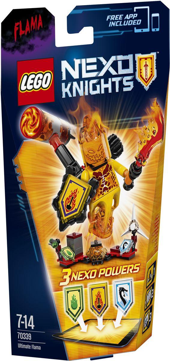 LEGO NEXO KNIGHTS Конструктор Флама - Абсолютная сила 7033970339От этого монстра с горящей головой некуда деться. Он раскачивает огромный огненный крушащий молот и швыряет его вниз, чтобы создать кольцо огня вокруг врага! Флама - Абсолютная сила полна сюрпризов: у нее есть шутер для шипов из слизи и ледяная вода, сковывающая врага. Улучшите свои боевые навыки, отсканировав щиты для получения 3 Nexo-сил, которые пополнят вашу цифровую коллекцию уникальных способностей и позволят перехитрить врагов в бесплатном приложении LEGO NEXO KNIGHTS. Набор включает в себя 67 разноцветных пластиковых элементов. Конструктор станет замечательным сюрпризом вашему ребенку, который будет способствовать развитию мелкой моторики рук, внимательности, усидчивости и мышления. Играя с конструктором, ребенок научится собирать детали по образцу, проводить время с пользой и удовольствием.