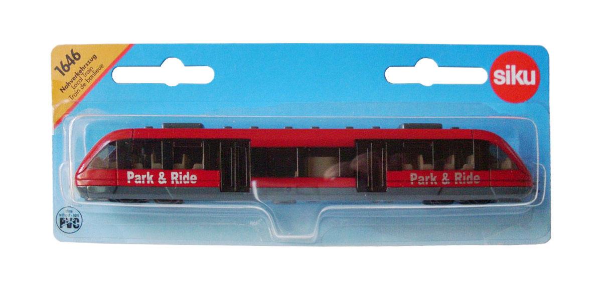 Siku Пригородный пассажирский поезд1646Пригородный пассажирский поезд Siku станет замечательным подарком для вашего ребенка. Игрушка выполнена в виде пригородного поезда и отличается высокой степенью детализации. Корпус модели выполнен из металла, детали изготовлены из ударопрочной пластмассы. Салон также тщательно проработан, внутри имеется водительское сиденье и места для пассажиров. Ваш ребенок часами будет играть с такой игрушкой, придумывая различные истории.
