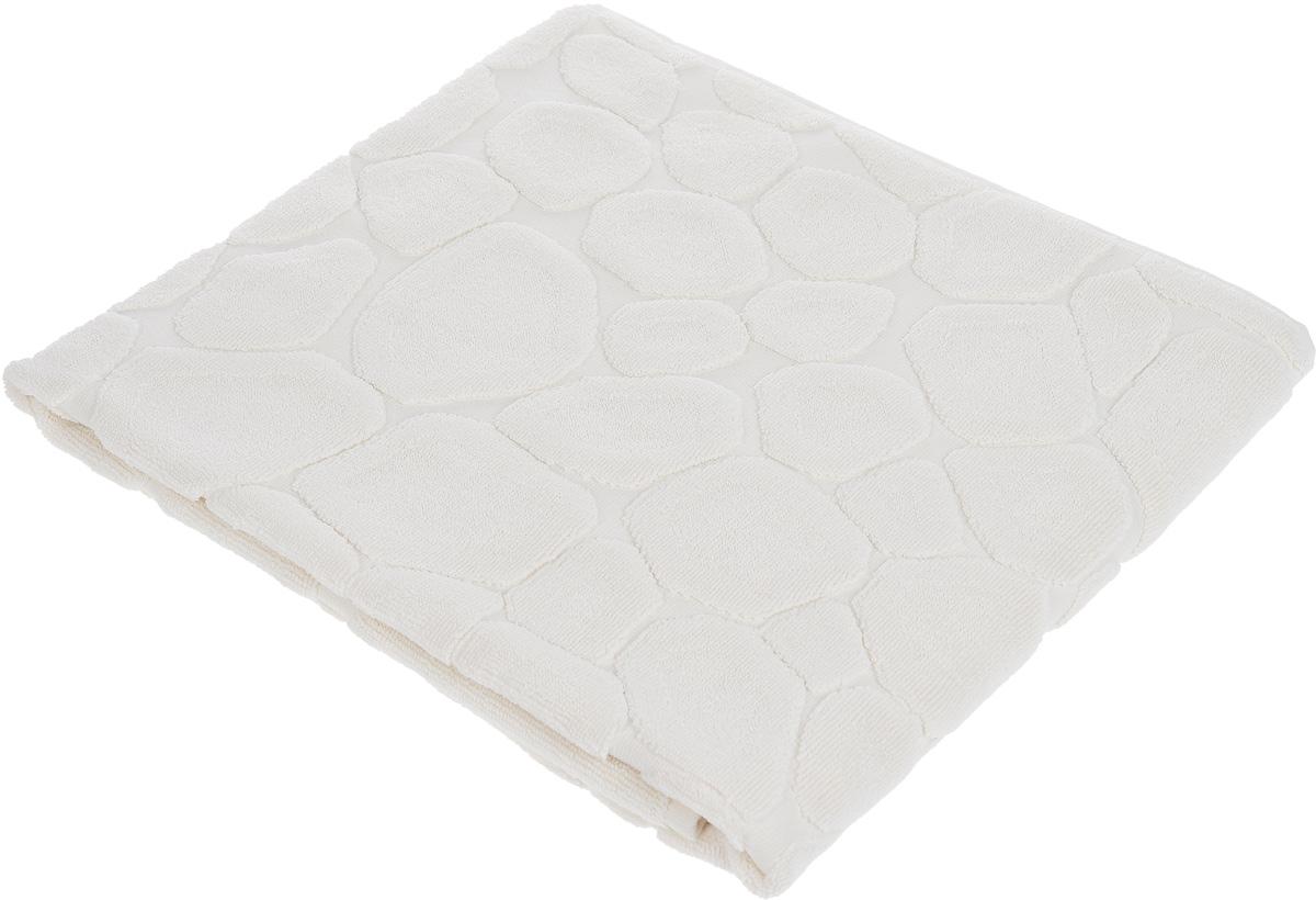Коврик-полотенце для ванной Issimo Home Lavia, цвет: экрю, 70 x 110 см4746Коврик-полотенце для ванной Issimo Home Lavia выполнен из высококачественного хлопка. Такое изделие подарит вам массу положительных эмоций и приятных ощущений. Коврик отличается нежностью и мягкостью материала, утонченным дизайном и превосходным качеством. Он прекрасно впитывает влагу, быстро сохнет и не теряет своих свойств после многократных стирок.