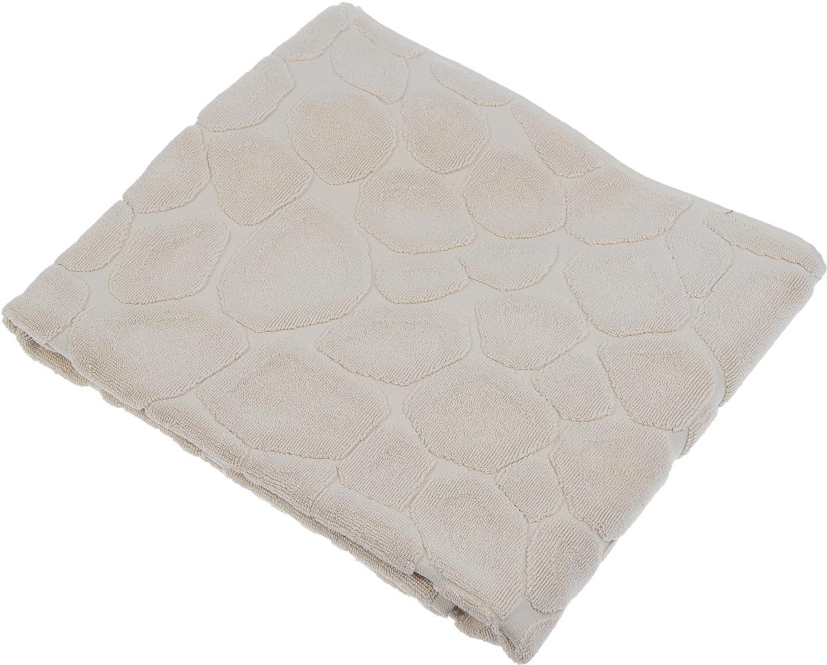 Коврик-полотенце для ванной Issimo Home Lavia, цвет: бежевый, 70 x 110 см4741Коврик-полотенце для ванной Issimo Home Lavia выполнен из высококачественного хлопка. Такое изделие подарит вам массу положительных эмоций и приятных ощущений. Коврик отличается нежностью и мягкостью материала, утонченным дизайном и превосходным качеством. Он прекрасно впитывает влагу, быстро сохнет и не теряет своих свойств после многократных стирок.