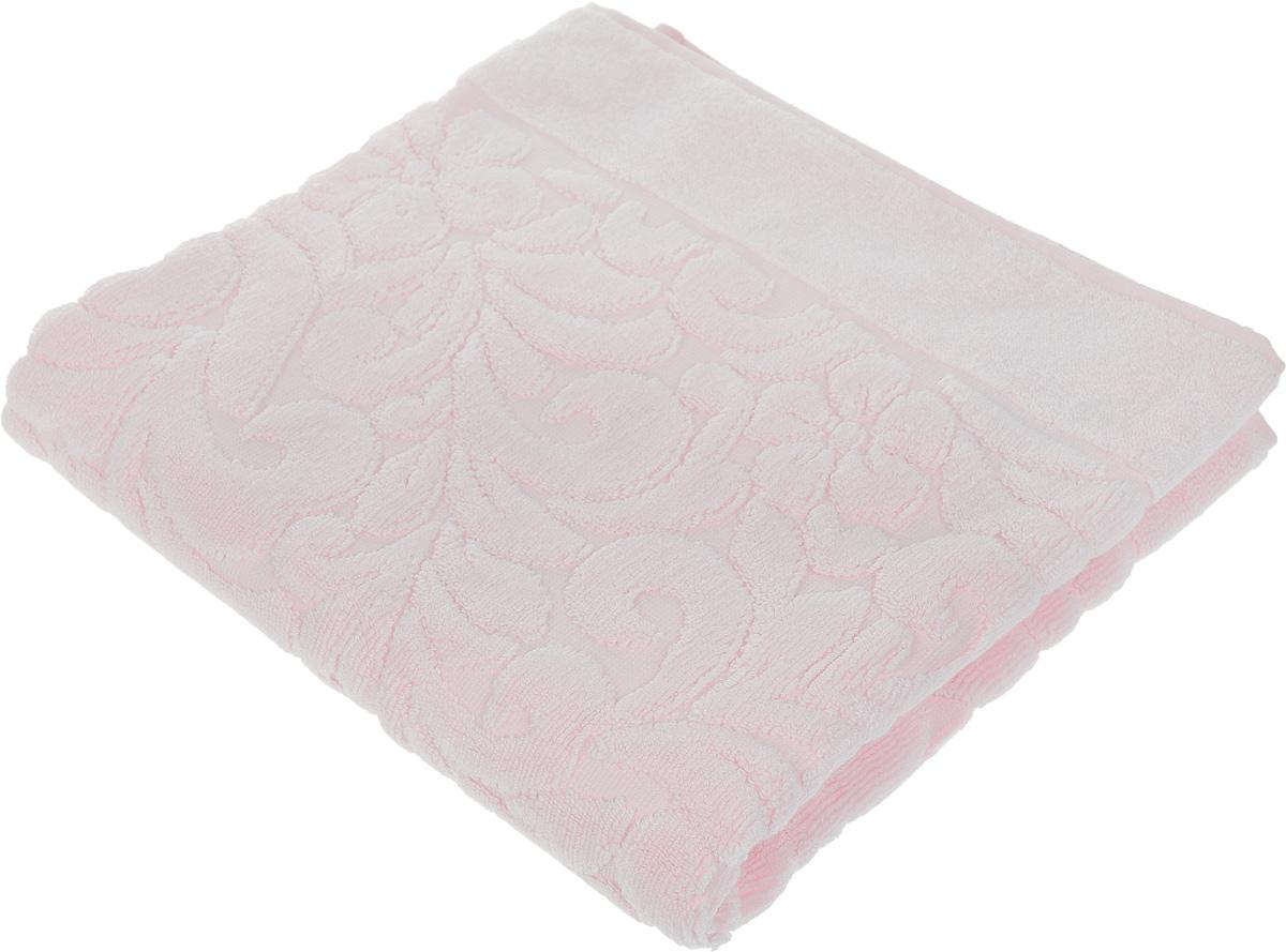 Коврик-полотенце для ванной Issimo Home Valencia, цвет: светло-розовый, 50 x 80 см4702Коврик-полотенце для ванной Issimo Home Valencia выполнен из высококачественного хлопка и бамбука. Такое изделие подарит вам массу положительных эмоций и приятных ощущений. Коврик отличается нежностью и мягкостью материала, утонченным дизайном и превосходным качеством. Он прекрасно впитывает влагу, быстро сохнет и не теряет своих свойств после многократных стирок.