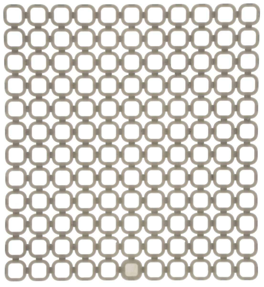 Коврик для раковины Tescoma Online, цвет: серый, 29 x 27 см900842_серыйСтильный и удобный коврик для раковины Tescoma Online выполнен из пластика. Он одновременно выполняет несколько функций: украшает, защищает мойку от царапин и сколов, смягчает удары при падении посуды в мойку, препятствует разбрызгиванию струи воды. Коврик также можно использовать для сушки посуды, фруктов и овощей. Можно мыть в посудомоечной машине.