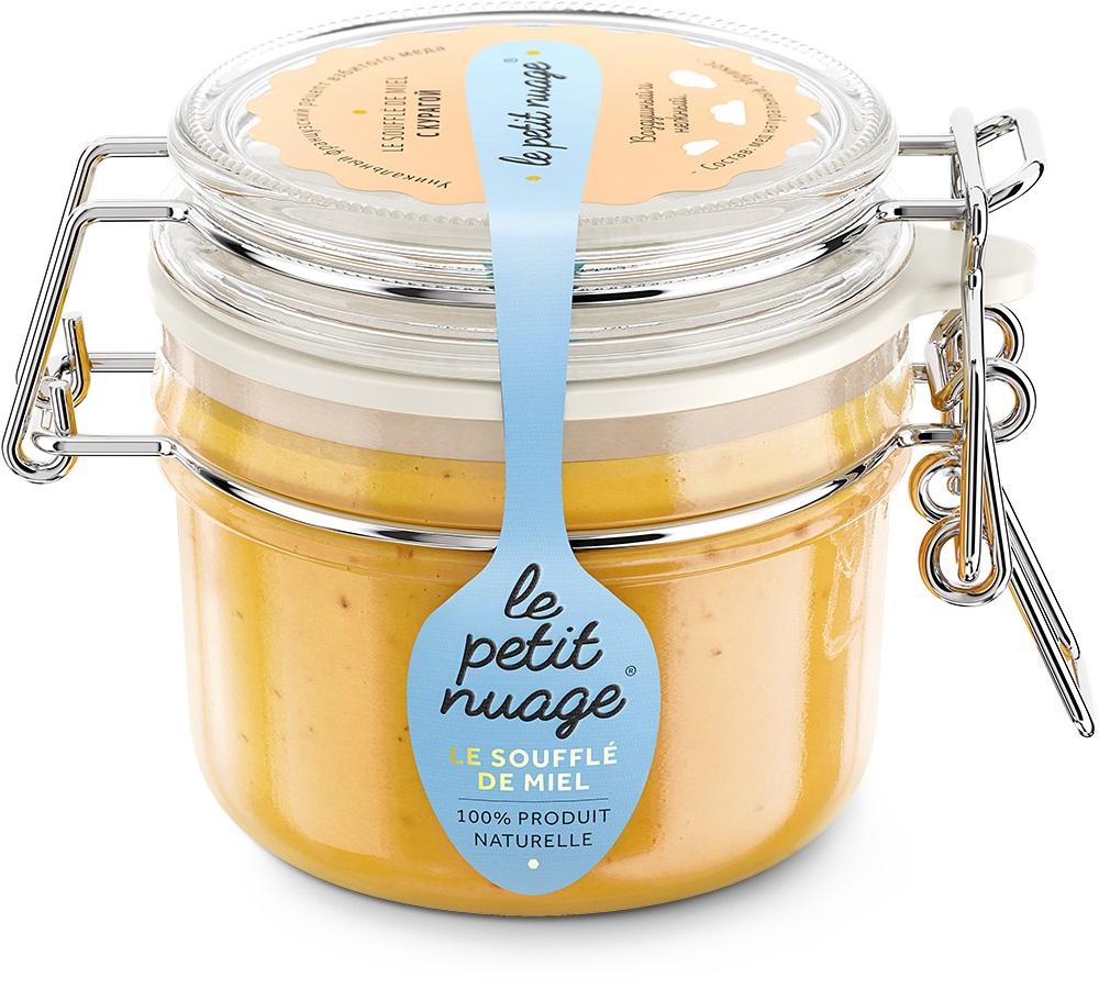 Le Petit Nuage мед-суфле с курагой, 215 гУПП00005469Мед-суфле Le Petit Nuage с курагой - мед аппетитно солнечного цвета. Нежное медовое суфле вместе с маленькими кусочками кураги, которые создают уникальный фьюжн кисло-сладкого вкуса.