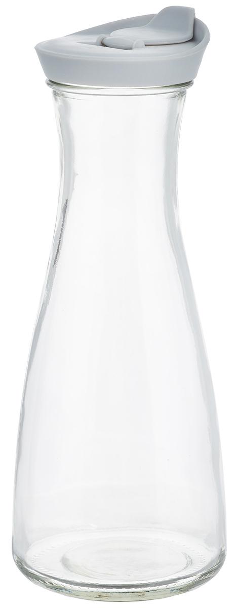 Бутылка для напитков Zeller, цвет: прозрачный, серый, 900 мл19705_прозрачный, серыйБутылка для напитков Zeller, изготовленная из прочного стекла, оснащена пластиковой крышкой с отверстием для жидкости. Это позволяет дозированно наливать содержимое. Изделие предназначено для воды, чая, фруктовых соков и других холодных напитков. Оригинальный дизайн и эргономичная форма превращают бутылку в стильный и функциональный аксессуар. Такая бутылка идеальна для ежедневного использования. Она украсит любой интерьер кухни и пригодится как дома, так и на даче. Диаметр бутылки (по верхнему краю): 6,2 см. Диаметр основания бутылки: 9,5 см. Высота бутылки (с учетом крышки): 26 см.