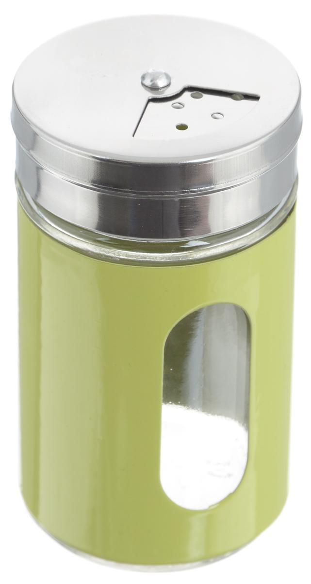 Емкость для специй Zeller, цвет: прозрачный, светло-зеленый, 100 мл19969_прозрачный, светло-зеленыйЕмкость Zeller, выполненная из антикоррозийной стали и прочного стекла, предназначена для разнообразных специй. Изделие снабжено плотно закрывающийся крышкой с поворотным механизмом, который позволяет выбрать отверстия нужные по диаметру. Емкость имеет прозрачное окошко. Благодаря антистатической поверхности содержимое емкости не прилипает к стеклянному окошку, поэтому вы всегда можете видеть, что и в каком количестве содержится внутри. Такая функциональная и вместительная емкость станет незаменимым аксессуаром на любой кухне. Диаметр (по верхнему краю): 6 см. Высота (без учета крышки): 10,5 см.