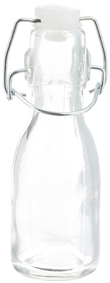 Емкость для масла и уксуса Zeller, 100 мл19710Емкость для масла или уксуса Zeller, выполненная из стекла, позволит украсить любую кухню. Она внесет разнообразие как в строгий классический стиль, так и в современный кухонный интерьер. Пластиковая крышка с силиконовой вставкой и металлической клипсой, делает бутылку герметичной. Оригинальная емкость Zeller будет отлично смотреться на вашей кухне. Диаметр по верхнему краю: 2,5 см. Высота (с учетом крышки): 14 см.