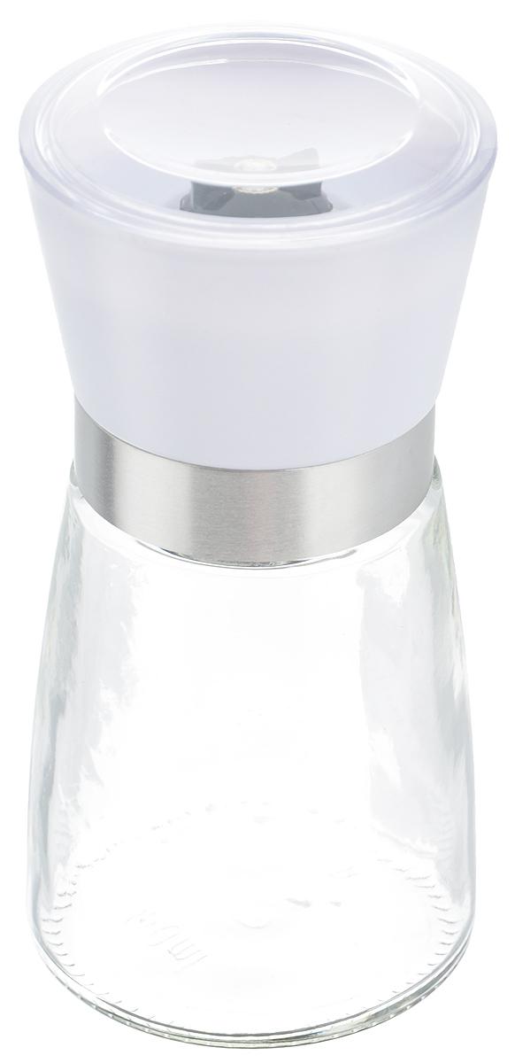 Мельница для специй Zeller, цвет: прозрачный, белый, высота 13,5 см19765_белыйМельница Zeller, изготовленная из стекла и пластика, легка в использовании. Необходимо насыпать специи внутрь емкости, достаточно только покрутить механизм, и вы с легкостью сможете поперчить или посолить по своему вкусу любое блюдо. Крышка сохраняет аромат специй. Механизм мельницы изготовлен из керамики. Оригинальная мельница станет достойным дополнением ваших кухонных аксессуаров. Высота мельницы: 13,5 см. Диаметр мельницы: 6,5 см.