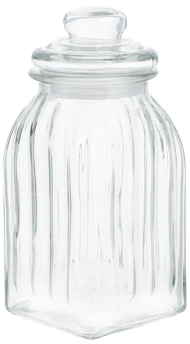 Банка для продуктов Zeller, 1 л19931Банка Zeller выполненная из рельефного стекла, станет незаменимым помощником на кухне. В ней будет удобно хранить разнообразные сыпучие продукты, такие как кофе, крупы, макароны или специи. Емкость легко закрывается стеклянной крышкой с силиконовой прокладкой. Оригинальный дизайн позволит сделать такую емкость отличным подарком на любой праздник. Диаметр банки (по верхнему краю): 9,5 см. Высота банки (без учета крышки): 19 см.