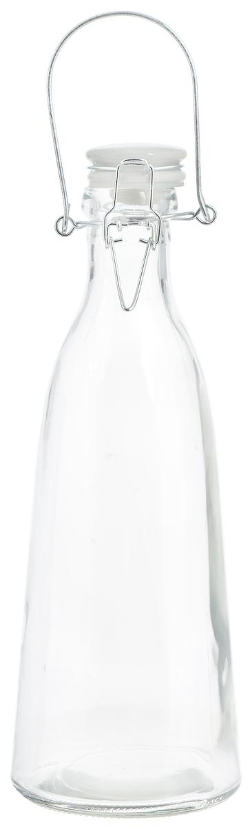Емкость для масла и уксуса Zeller, 500 мл19715Емкость для масла или уксуса Zeller, выполненная из стекла, позволит украсить любую кухню. Она внесет разнообразие как в строгий классический стиль, так и в современный кухонный интерьер. Керамическая крышка с силиконовой вставкой и клипсой-застежкой делает бутылку герметичной. Оригинальная емкость будет отлично смотреться на вашей кухне. Диаметр по верхнему краю: 4 см. Диаметр основания: 8,5 см. Высота (с учетом крышки): 24,5 см.