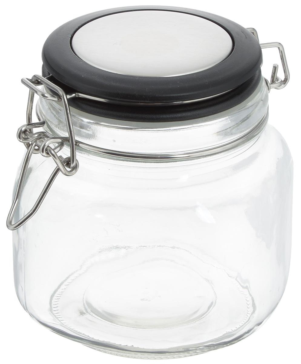 Банка для хранения Zeller, 500 мл. 1995019950Банка Zeller выполнена из прозрачного стекла и оснащена пластиковой крышкой. Металлическая клипса и силиконовый уплотнитель герметично закрывают крышку, что позволяет продуктам дольше оставаться свежими и ароматными. Изделие прекрасно подходит для хранения разнообразных сыпучих продуктов. Такая баночка станет достойным дополнением к вашему кухонному инвентарю. Диаметр по верхнему краю: 9 см. Высота банки (с учетом крышки): 13 см.
