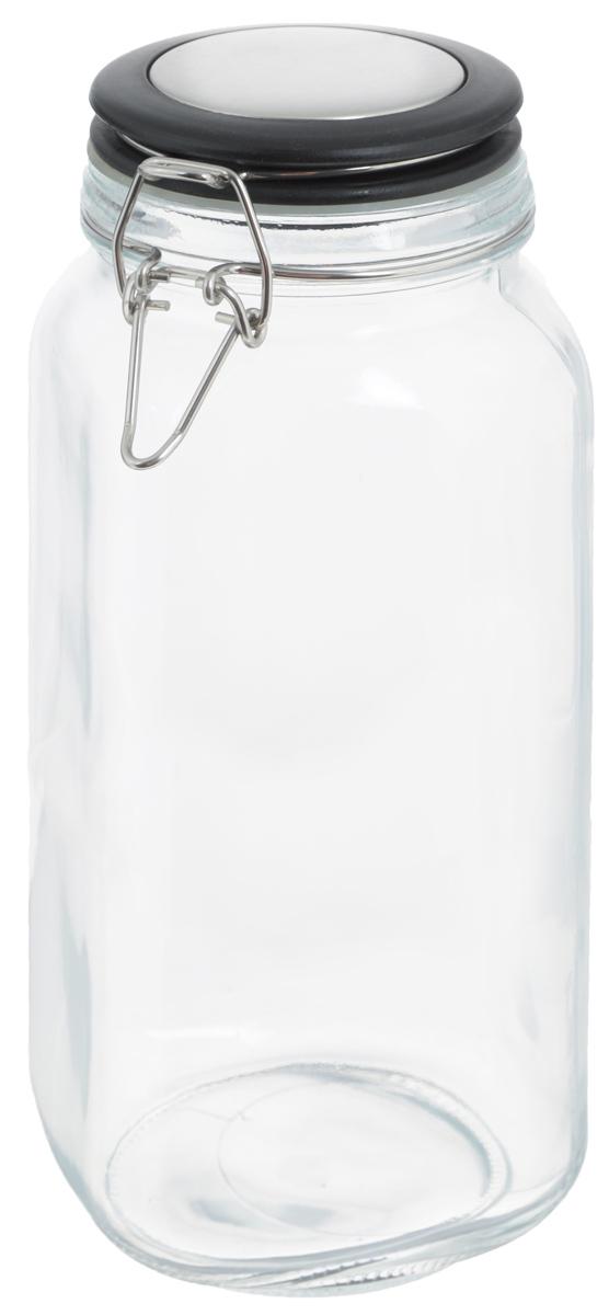 Банка для хранения Zeller, 2,1 л. 1995319953Банка Zeller, изготовленная из прочного стекла, снабжена пластиковой крышкой с силиконовым уплотнителем. Металлическая клипса плотно и герметично закрывается, дольше сохраняя аромат и свежесть содержимого. Изделие подходит для хранения сыпучих продуктов: круп, чая, специй, орехов, сахара и многого другого. Функциональная и вместительная, такая банка станет незаменимым аксессуаром на любой кухне. Диаметр банки (по верхнему краю): 9,5 см. Высота банки (с учетом крышки): 26 см.