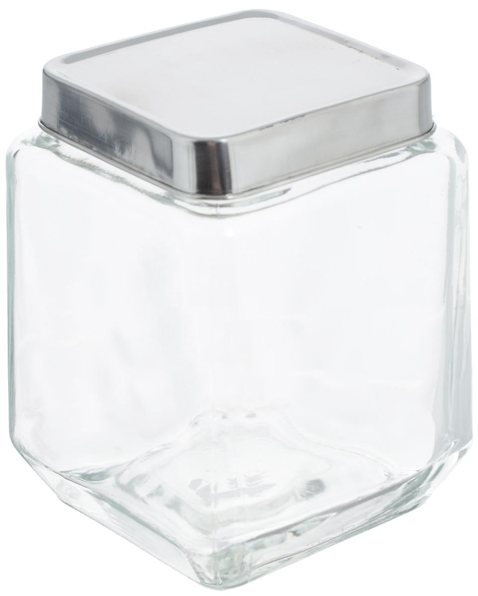 Банка для хранения Zeller, 1,1 л. 1990719907Банка Zeller, изготовленная из прочного стекла, снабжена металлической крышкой, которая плотно и герметично закрывается, дольше сохраняя аромат и свежесть содержимого. Изделие подходит для хранения сыпучих продуктов: круп, чая, специй, орехов, сахара и многого другого. Функциональная и вместительная, такая банка станет незаменимым аксессуаром на любой кухне. Размер банки (с учетом крышки): 10,5 х 10,5 х 14 см.
