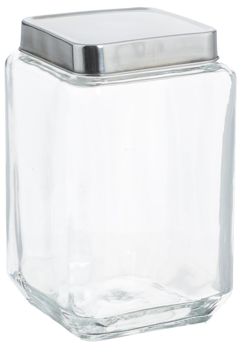 Банка для хранения Zeller, 1,5 л. 1990819908Банка Zeller, изготовленная из прочного стекла, снабжена металлической крышкой, которая плотно и герметично закрывается, дольше сохраняя аромат и свежесть содержимого. Изделие подходит для хранения сыпучих продуктов: круп, чая, специй, орехов, сахара и многого другого. Функциональная и вместительная, такая банка станет незаменимым аксессуаром на любой кухне. Размер банки: 10,5 х 10,5 х 18 см.