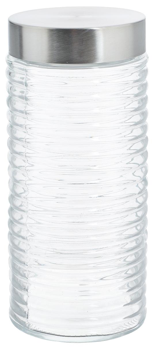 Банка для хранения Zeller, 1,4 л19772Банка Zeller, изготовленная из прочного стекла, снабжена металлической крышкой, которая плотно закрывается, дольше сохраняя аромат и свежесть содержимого. Изделие подходит для хранения сыпучих продуктов: круп, чая, специй, орехов, сахара и многого другого. Функциональная и вместительная, такая банка станет незаменимым аксессуаром на любой кухне. Диаметр банки (по верхнему краю): 8,7 см. Высота банки (без учета крышки): 22,5 см.