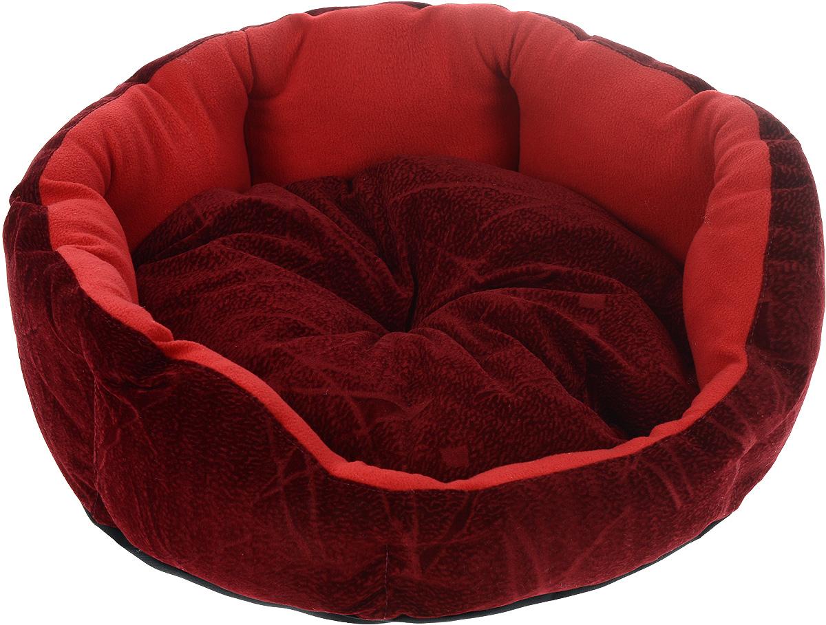 Лежак для животных ЗооМарк Цветочек, цвет: красный, диаметр 46 смЛЦ-1Мягкий лежак для собак ЗооМарк Цветочек обязательно понравится вашему питомцу. Он выполнен из высококачественных материалов, а наполнитель из мягкого синтепуха. Такой материал не теряет своей формы долгое время. Высокие борта обеспечат вашему любимцу уют. Лежак оснащен съемной подстилкой. Лежак ЗооМарк Цветочек станет излюбленным местом вашего питомца, подарит ему спокойный и комфортный сон, а также убережет вашу мебель от многочисленной шерсти. Диаметр: 46 см. Высота: 16 см.